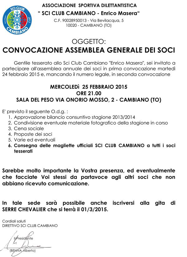 INVITO ASSEMBLEA SOCI